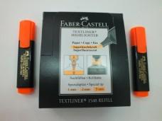Faber 1548 fosforlu kalem turuncu pk(10 lu ) 17,50+_500x375