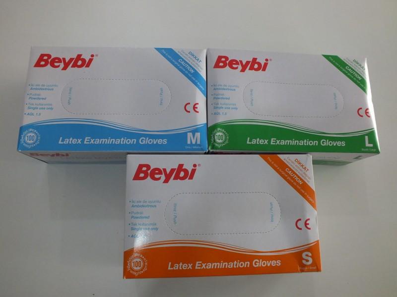 Beybi muayene eldiveni S,L,M pk(100 lü) 8,00