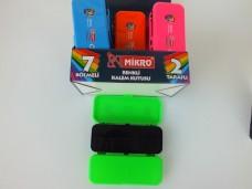 Mikro M-80 renkli kalem kutusu 2 taraflı 7 bölmeli  pk(12 li) ad 2,75_600x450