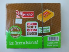 Mikro 2B-600 soft çizim silgisi pk(12 li) 20,00_600x450