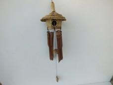 Sazlıklı ahşap kuş evi rüzgar çanı 15,00_600x450