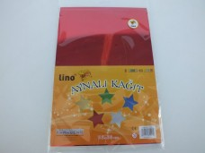 Lino 2708j 23X33cm aynalı kağıt pk( 5 renk - 10 adet) 5,50_600x450
