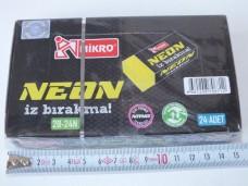 Mikro 2B-24N Neon silgi pk(24 lü) 11,50_600x450