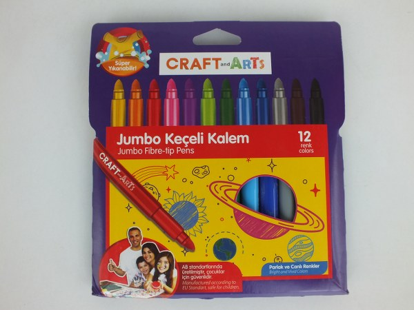 Craft And Arts 12'li jumbo keçeli kalem 9,31_600x450
