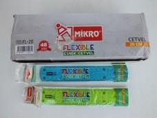 Mikro fl-20 20cm esnek - elastik cetvel pk(48li) ad 0,70_600x450