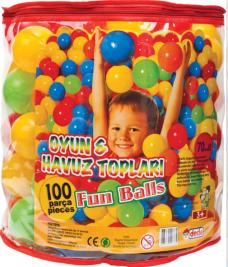 Dede 01733 7cm oyun-havuz topları 100prç 30,00