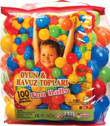 Dede 01755 9cm oyun-havuz topları 100prç 40,00