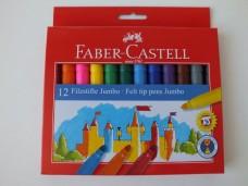 Faber Castell unicolor 12'li jumbo keçeli kalem 20,00_600x450