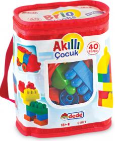 Dede 01021 40 prç akıllı çocuk çantalı lego 21,00
