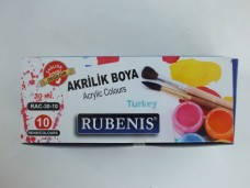 Rubenis rac-30-10 30 ml akrilik boya 10 lu 10,85_600x450