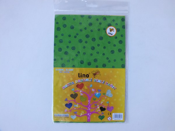 Lino 2802J-4 20x30cm 10 renk nokta desenli simli kağıt 4,25_600x450