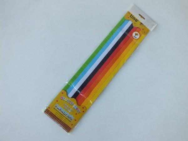 Lino PD-030B oluklu şerit 13x500mm 8 renk x 40 lı  6,25_600x450