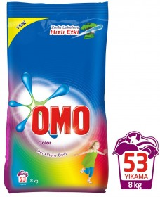 Omo toz 8 kg renkliler için koli(4lü) ad 53,00 koli 203,00