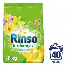 Rinso toz 6 kg kır bahçesi renkliler için koli(4lü) ad 33,50 koli 127,50