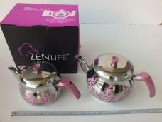 Zen Life 4pcs Desenli Aile Boy Paslanmaz Çaydanlık 53,50_600x450