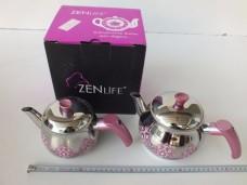 Zen Life 4pcs Desenli Mini Boy Paslanmaz Çaydanlık 51,00_600x450