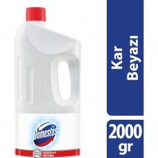 Domestos 2000g çamaşır suyu kar beyazı (beyaz) koli(9lu) ad 10,75 koli 91,50