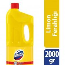 Domestos 2000g çamaşır suyu limon ferahlığı (sarı) koli(9lu) ad 10,75 koli 91,50