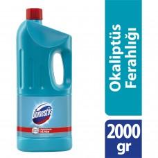 Domestos 2000g çamaşır suyu okaliptus ferahlığı (mavi) koli(9lu) ad 10,75 koli 91,50