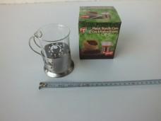 Paçi metal standlı cam çay-kahve kupası 4,25_600x450
