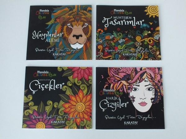 Karatay mandala boyama kitabı yetişkinler için 6,75_600x450