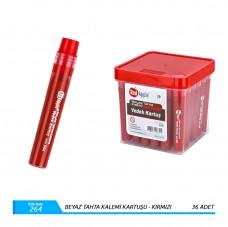 Red apple ra25-264  kırmızı tahta kalemi kartuşu pk(36'lı) 18,50