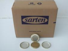 SARTEN (GOLD-SARI) mini konserve kavanoz kapağı koli(900lü) ad 0,37 koli 315,00