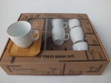 Kütahya 12 prç bambu tabak kahve tk  71,50