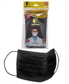 Digi mask cerrahi doktor maskesi SİYAH pk(10lu) 2,50